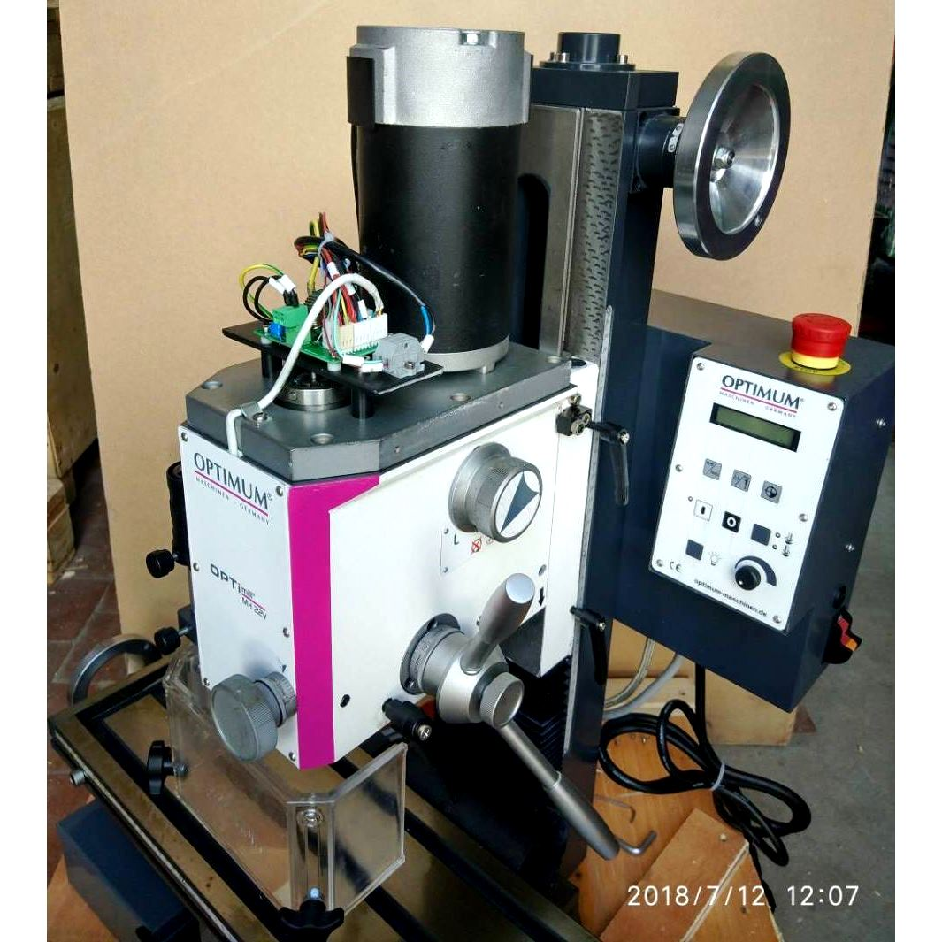 Настольный фрезерный станок по металлу Оптимум MH22 V_13