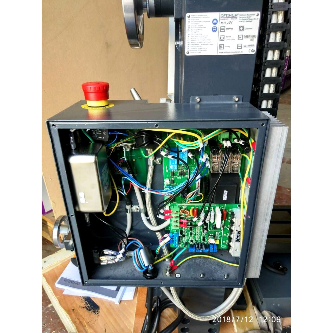 Настольный фрезерный станок по металлу Оптимум MH22 V_9